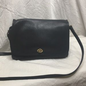 Vintage Coach in black leather